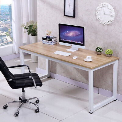 Computer Desk PC Laptop Table Wood Workstation Study Home Office Furniture ()