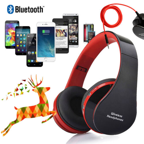Bluetooth Foldable Headset Wireless Stereo Headphone Earphone for iPhone/Samsung