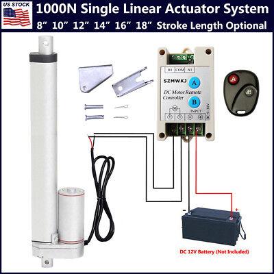 Electric Linear Actuator 1000n 12v Motor Controller Auto Lift Window Door Opener
