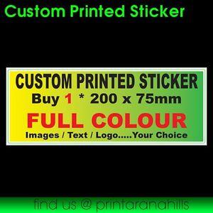 1 x Custom Made & Designed Printed Bumper Stickers - 200x75mm - CP00000