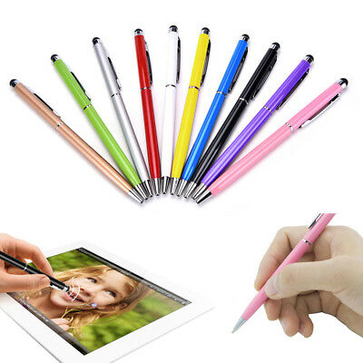 10pcs 2 in 1 Touch Screen Stylus Ballpoint Pen Fit iPad iphone Smartphone Tablet