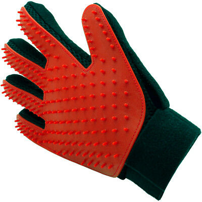 - Pet Grooming Glove Deshedding Brush Fur Remover Mitt for Dog Cat (Right Hand)