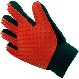 Pet Grooming Glove Deshedding Brush Fur Remover Mitt for Dog Cat (Right Hand)