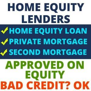 Home Equity Loan Lenders - Private Mortgage Lender - 2nd Mortgage / Second Mortgage  - 1-888-604-3374 -  Private Lenders