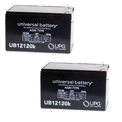 2 PACK UB12120 12V 12AH F2 Battery Replaces Giant LaFree Sport Electric Bicycle