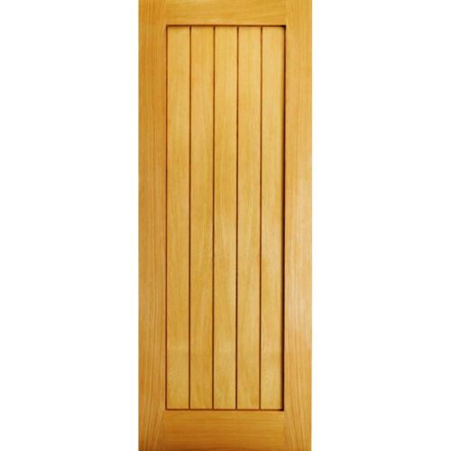 Internal Oak Door MEXICANO Slimline Recessed Panel Interior Wooden Doors