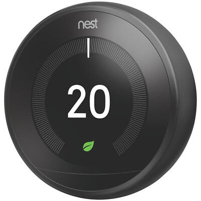 NEST Learning Thermostat & Hot Water Control- 3rd Generation, Black - Free Stand