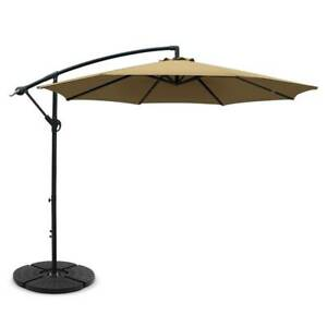 Instahut 3M Umbrella with 48x48cm Base Outdoor Umbrellas Cantilever S