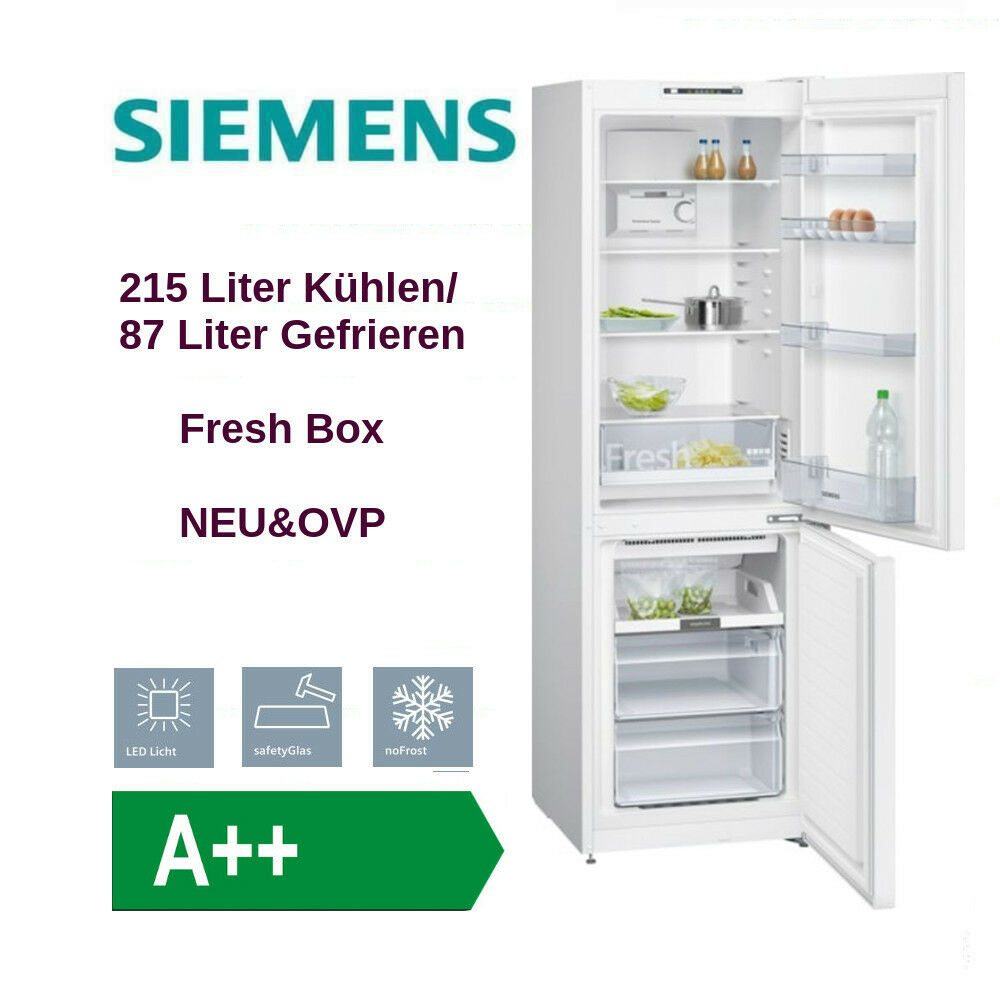 siemens kg36nnw30 k hl gefrierkombination eek a nofrost 302 liter neu ovp ebay. Black Bedroom Furniture Sets. Home Design Ideas