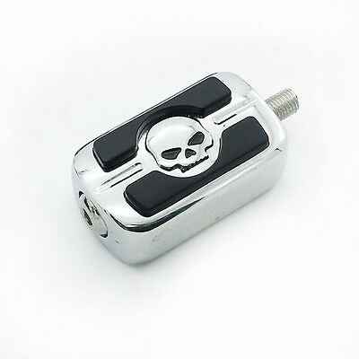 Chrome Skull Shifter Shift Peg Cover For 1987-2015 Harley Davidson Dyna