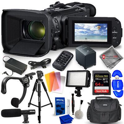 Canon Vixia HF G60 UHD 4K Camcorder + 64GB + Tripod Bundle - AUTHORIZED DEALER
