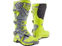 Fox comp 5 hi vis boots wore once size ten