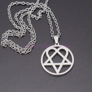 Him Necklace Stainless Steel Heartagram Pendant Merch Logo Symbol 24