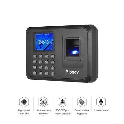 Biometric 2.4 Lcd Attendance Machine Fingerprint Password Time Clock Reader