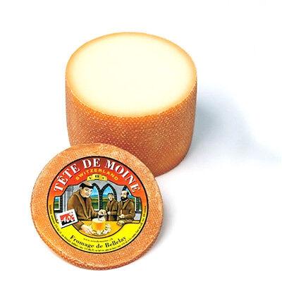 Tete de Moine AOP Käse ca 400g für Girolle Käsehobel halbierter Laib