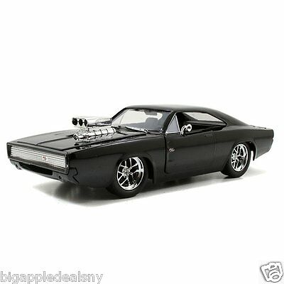 JADA 97059 FAST AND FURIOUS 7 DOM'S 1970 DODGE CHARGER R/T 1:24 DIECAST BLACK