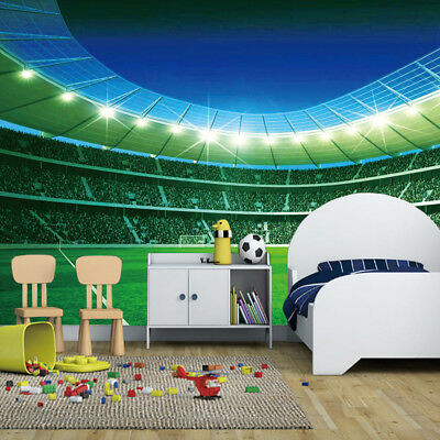 Football Stadium Pitch Sports Wall Mural Photo Wallpaper Kids Bedroom Decoration