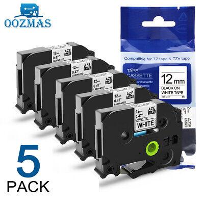 5pk Tz Tze-231 Compatible Brother P-touch Tz-231 12mm Label Maker Tape Pt-d210