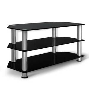 TV Stand Entertainment Unit Temptered Glass 3 Tier - FREE DELIVERY