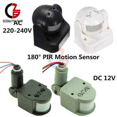 12v Ac Motion Sensor (DC12V/AC 220-240V 12M 180° PIR Motion Sensor Detector Switch for Home Security)