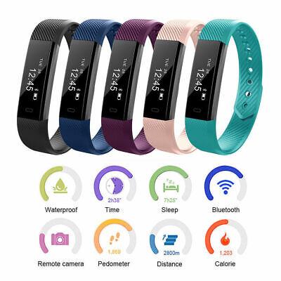 Sport Fitness Uhr Smartwatch Armband Uhr Bluetooth Tracker Schrittzähler Pulsuhr