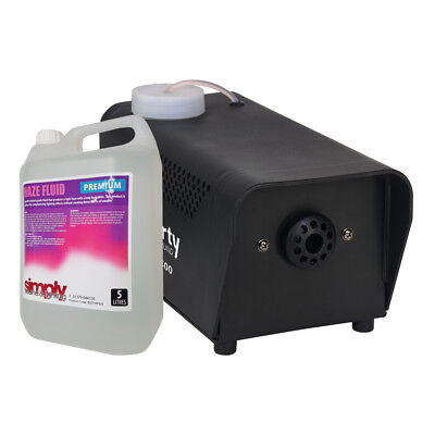 Party 400w Smoke Machine Fog Effect inc Wired Remote Disco Halloween + 5L Fluid