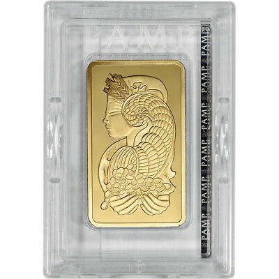 10 oz. Gold Bar - PAMP Suisse - Fortuna - 999.9 Fine in Sealed Assay