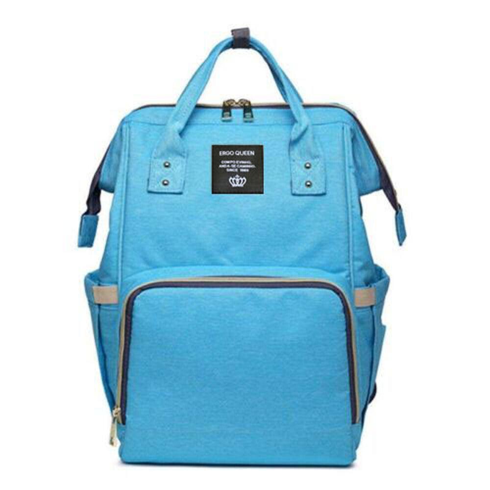 Ergo Diaper Bag Backpack Mummy Maternity Nappy Large Capacity Baby Bag Travel  Blue
