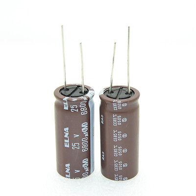 2pcs Elna Ra3 6800uf25v Audio Electrolytic Capacitor-4043