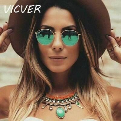 Round Sunglasses Women Brand Designer Vintage Metal Cheap Sun glasses for (Branded Sunglasses For Cheap)
