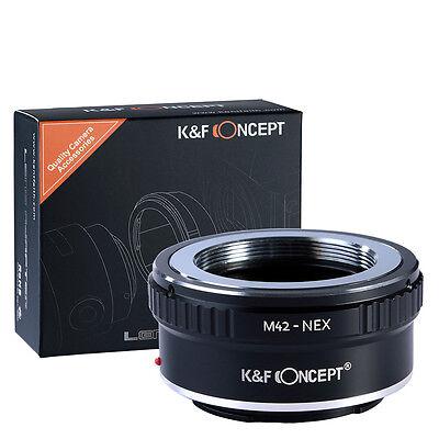 M42-NEX Adapter for M42 Screw Mount Lens to Sony E NEX Alpha Camera K&F Concept