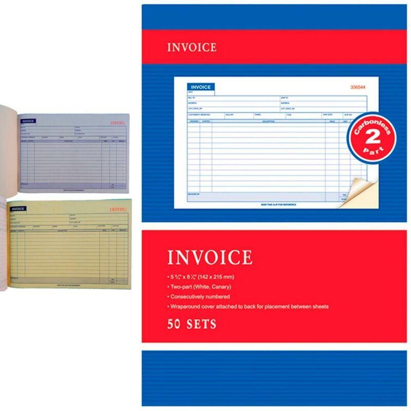 Carbonless Invoice Receipt Record Book 2 Part 50 Sets Duplicate Receipt Copy