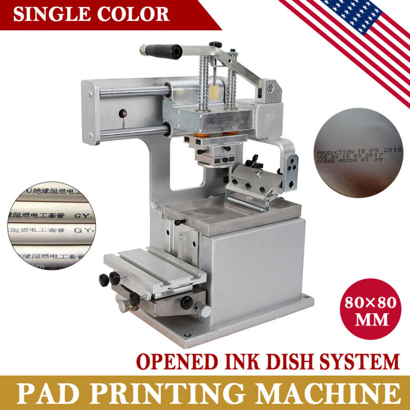 Single-color Manual Pad Printing Machine High-magnetic dish Opened Ink Dish NEW