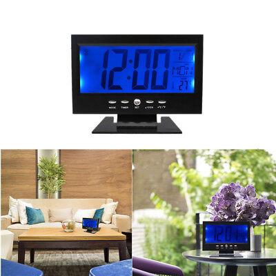 Digital Table Clock Calendar Temperature Humidity Alarm Timer Voice Activated