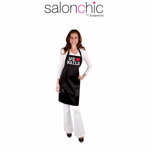 "Salonchic 4075 Salon Spa Hair Cutting ""We Love Nail"" All-Purpose Nail Tech Apron"