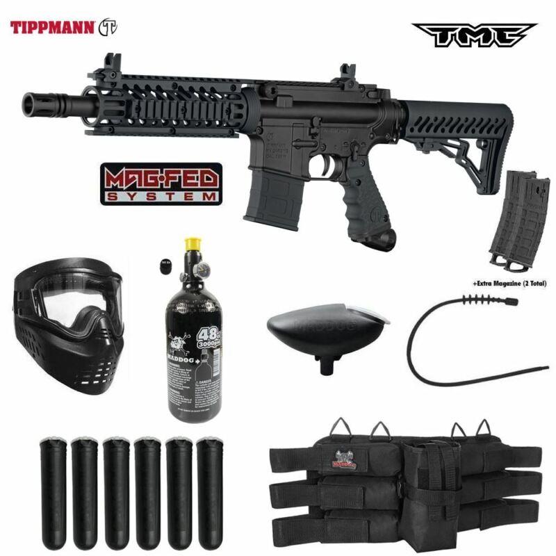 Maddog Tippmann TMC MAGFED Titanium HPA Paintball Gun Starter Package Black