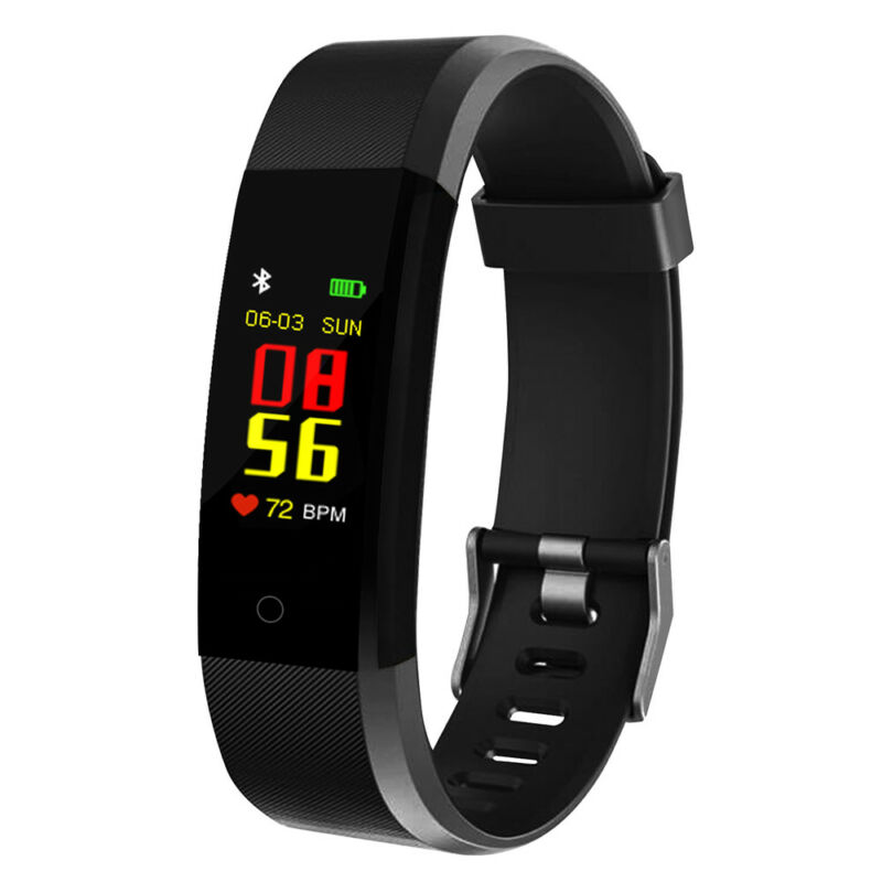 Smart BraceletWristband WatchHeart Rate MonitorBlood PressureFitness Tracker