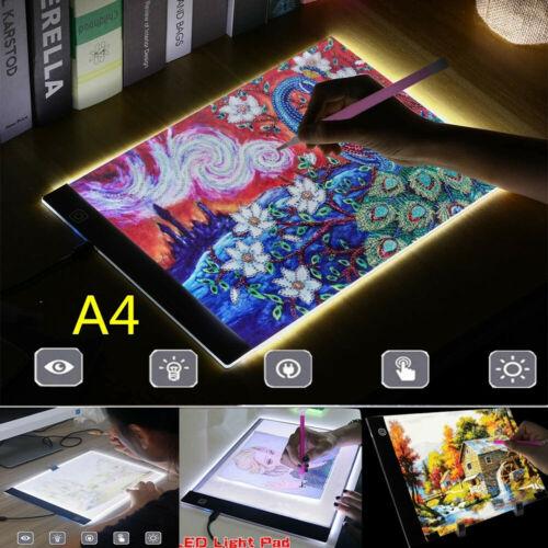 A4 Led Adjustable Light Box Diamond Painting Board Drawing Tracing Pad Art Tool