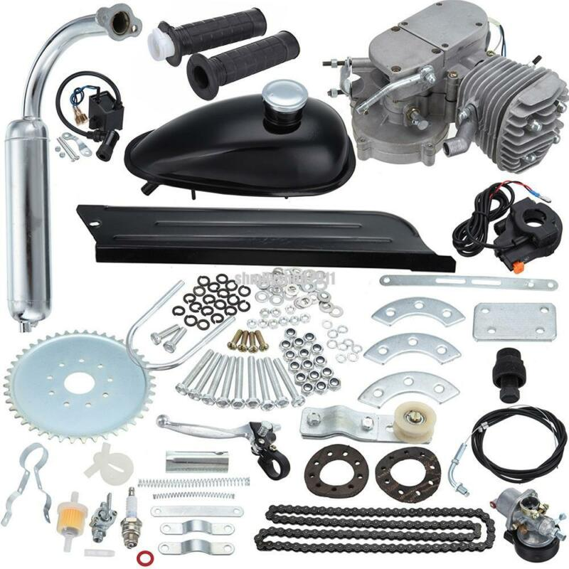Sliver 50cc 2 Stroke Cycle Motor Kit Motorized Bike Petrol Gas Bicycle