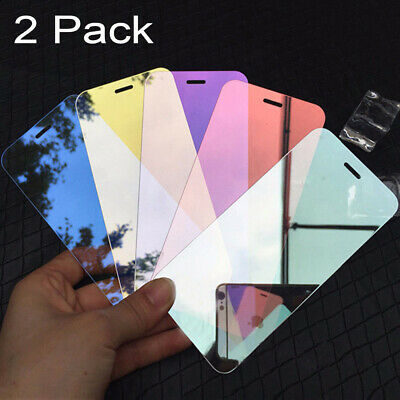 Mirror Screen Cover - 2xFull Cover Mirror Tempered Glass Screen Protector Film For iPhone XR XS Max US