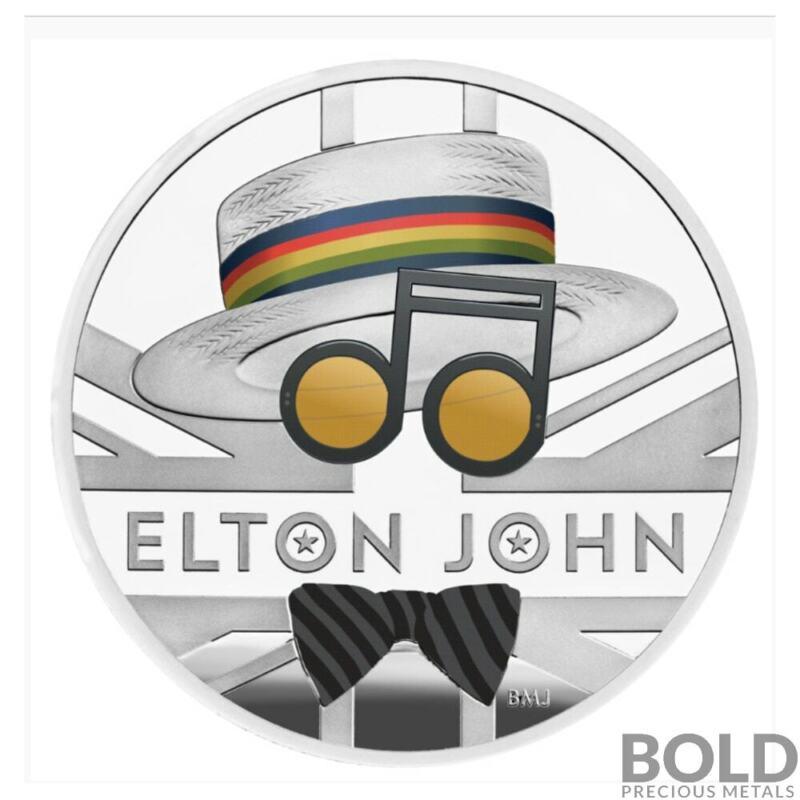 2020 Britain Music Legends Elton John 1 oz Silver Proof