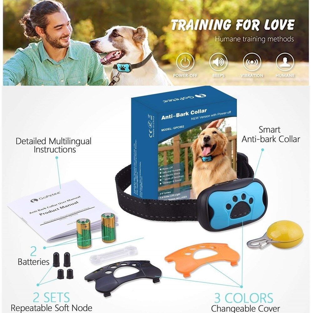 8 in1 Anti-Bell Halsband Vibrationshundehalsband Hundehalsband mit Ton&Vibration