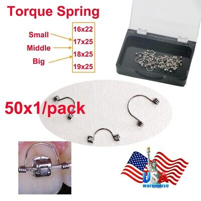 50pcs Dental Orthodontic Use Teeth Torque Springs Small Middle Big Spring Usa
