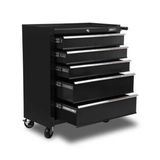 FREE DELIVERY - 5 Drawers Roller Toolbox Cabinet  Black