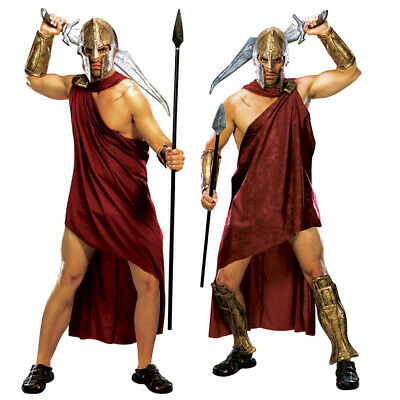 ADULTS DELUXE SPARTAN WARRIOR COSTUME HISTORIC GLADIATOR SCHOOL DAY FANCY DRESS