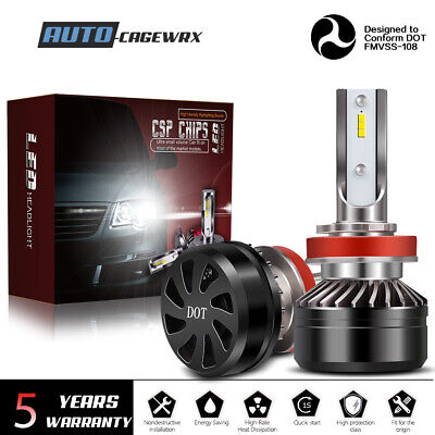 H11 H8 H9 LED Headlights Bulbs HID 12000LM Kit High/Low Beam Premium 6000K