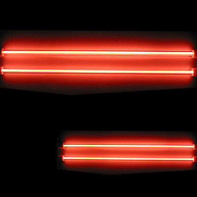 4 Piece Car Red Undercar Underbody Neon Kit Lights CCFL Cold Cathode 6