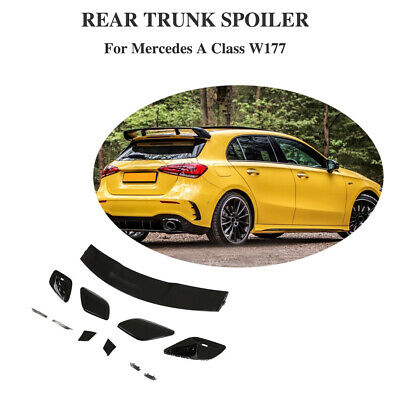 Schwarz Spoiler für Mercedes W177 A180 A200 A250 2019+ Dachspoiler Flügel Lippe