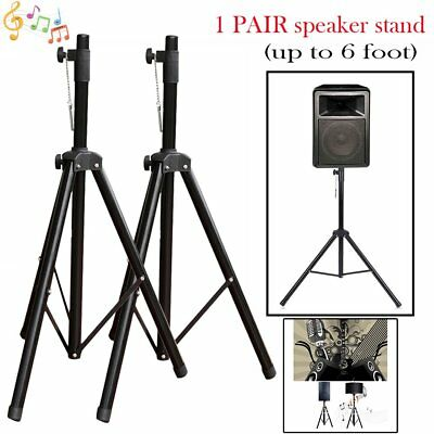 2Packs Heavy Duty Tripod DJ PA Speaker Stands Adjustable Height  Stable Stand WX
