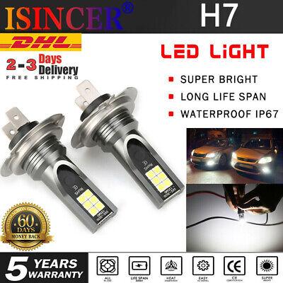 2X H7 LED Scheinwerfer Nebel Kit CANBUS 55W Fern-/Abblendlicht 6000K 1:1 Halogen